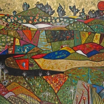 """Natural Tapestry - Oil - 72""""x72"""""""