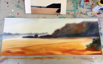 Going Coastal painting process